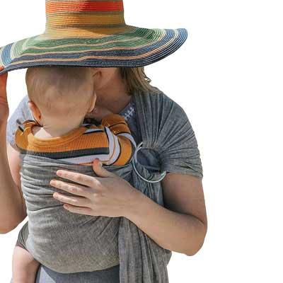3. Skya by Bijou Wear Soft Ring Sling Newborns, Infants Baby Carrier