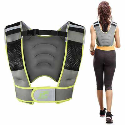 6. RitFit Good-Quality & Build-in Pockets Neoprene Fabric Adjustable Weighted Vest for Men & Women