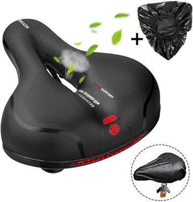 #2. MSDADA Comfortable Bike Seat- Padded Soft Bike Seat Cushion