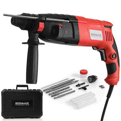 #10. Goplus SDS-Plus 3 Mode 1-Electric 9 Amp ½inch Rotary Hammer Drill with Adjustable Speed
