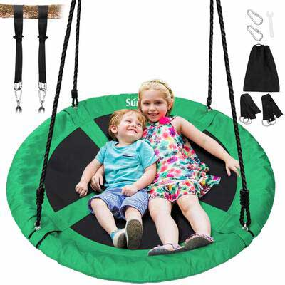 5. Sunkorto 40Inch Flying Tree Swing with a Hanging Strap Kit
