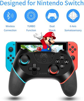 10. REGEMoudal Bluetooth Connection Play Time Wireless Pro JoyPad Remote for Switch Console
