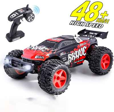 #1. HisHerToy 1:12 4WD 2.4 GHz Hobby Buggy Remote Control High-Speed Off-Road RC Car for Boys