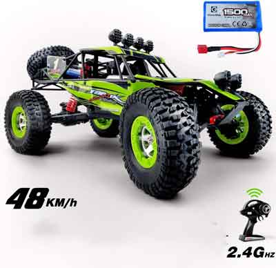 #2. Gizmovine RTR 1:12 Scale 2.4 GHz 4WD High-Speed 30MPH 4X4 Off-Road RC Truck Toys for Kids