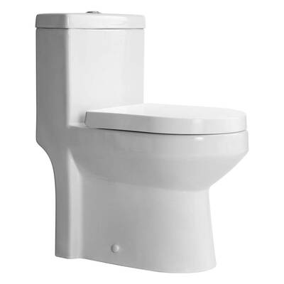 #8. HOROW HWMT-8733A Toilet Dual Flush and Concealed Trapway
