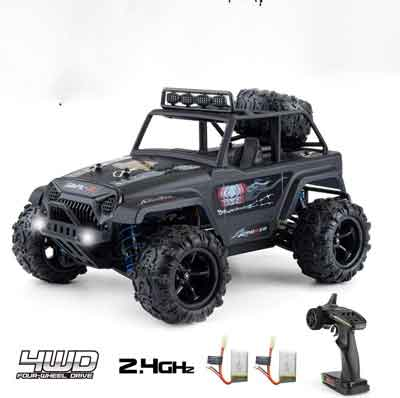 #6. LADUO 1:18 4WD 40km/h 2.4 GHz Waterproof 45minutes Game Time High-Speed Off-Road RC Truck