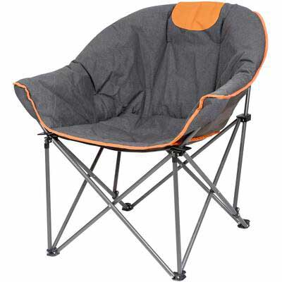 #5. Outdoor Living Suntime Oversize Padded Comfortable Portable Stable Folding Chair for Camping