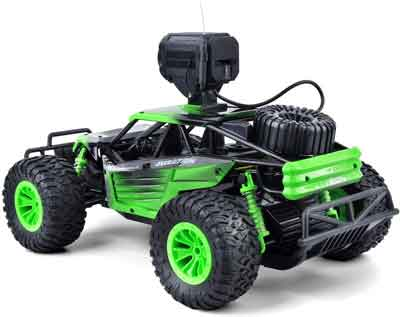 #7. Gizmovine with 2 rechargeable Batteries & Camera High-Speed Racing off-Road Truck for all Kids