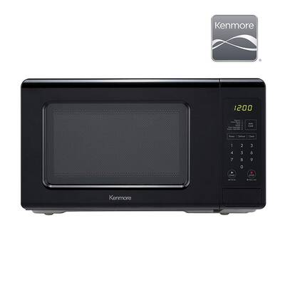 #10. Kenmore Elite 70729 0.7cu. Ft. 700W Removable Turntable Countertop Microwave (Black)