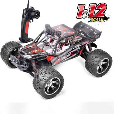 #4. HiStorm 1:12 2WD Rechargeable 2.4 GHz Waterproof All-Terrain Off-Road Truck for Kids & Adults