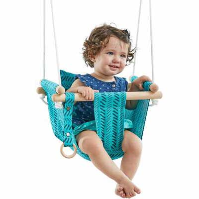6. HAPPY PIE PLAY and ADVENTURE Hanging Swing Seat (Bright Green)