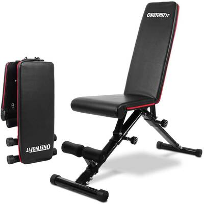 4. ONETWOFIT Adjustable Weight Bench for Complete Body Workout