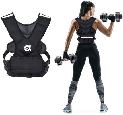 5. ANTIVAFIT Sport Reflective Stripe 8/16lbs Adjustable Strap Body Weight Vest w/Pocket for Workout