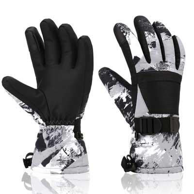 #1. Yidomto Ski Gloves Waterproof Warm Touchscreen Snow Gloves for Kids