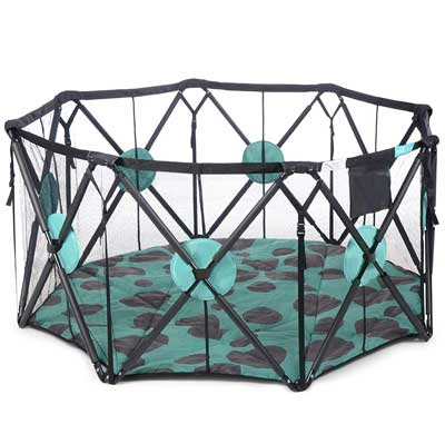 #5. Milliard X-Large 8-Panel Playpen with Cushioning for Safety Travel Portable Playard