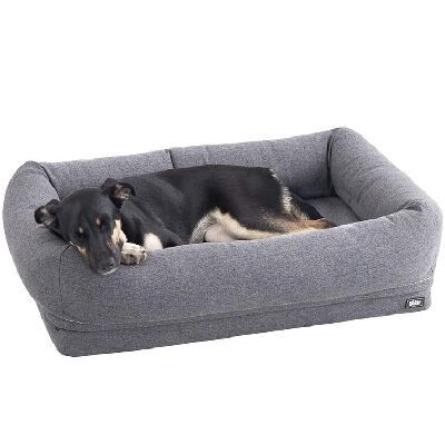 2. Barkbox Waterproof Lining High Density 3'' 2-in-1 Memory Foam Bolster Orthopedic Dog Pillow Bed