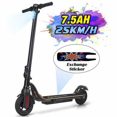 #6. MEGAWHEELS S10 Up to 15.5MPH 8Inch Tires Ultra-Lightweight Portable & Foldable Electric Scooter
