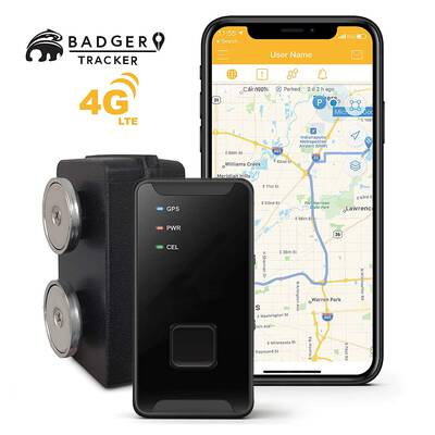 #2. Badger Tracker GPS 4G LTE Real-Time Tracker for Campers Vehicles Fleets Waterproof Hard-shell