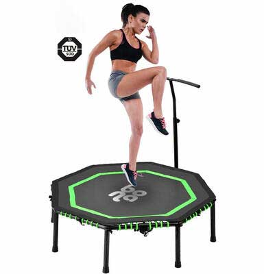 #6. Newbona 48Inch Max Load 265lbs Foldable & Silent Indoor Rebounder Mini Trampoline for Adults