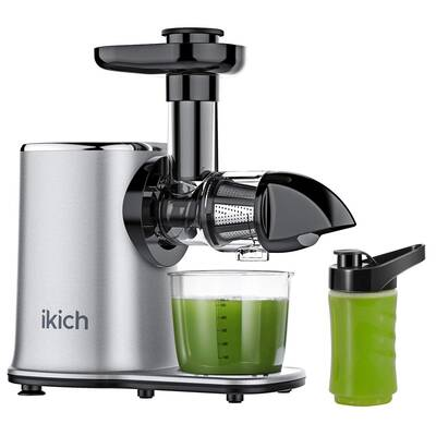 #6. IKICH Slow Masticating Juicer, High juice yield –Silver
