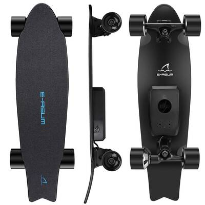 #7. E-ASUM AS01 350W Hub-Motor Electric Skateboard with Wireless Remote Control