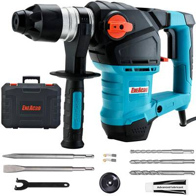 #5. ENEACRO 1-1/4inch SDS-Plus Heavy Duty 12.5 Amp 3 Function Safety Clutch Rotary Hammer Drill