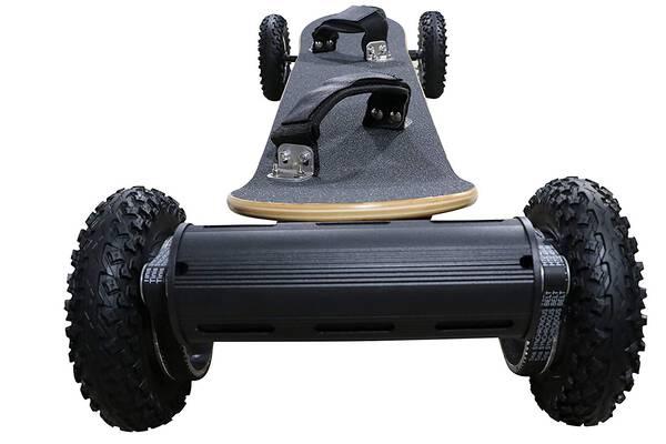 #3. OUTSTORM 31MPH off Road 3300w Motorized Mountain Longboard Electric Skateboard
