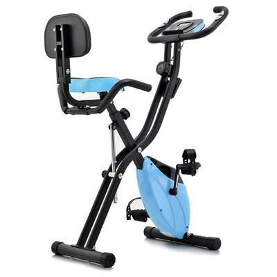 #9. Lanos Folding Exercise Bike with 10 Level Adjustable Magnetic Resistance
