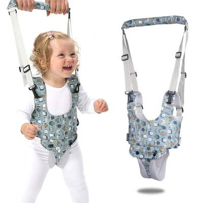 #6. wonuu Baby Walker Hand-held Walking Assistant for Infant, Toddlers, and Kids (Blue)