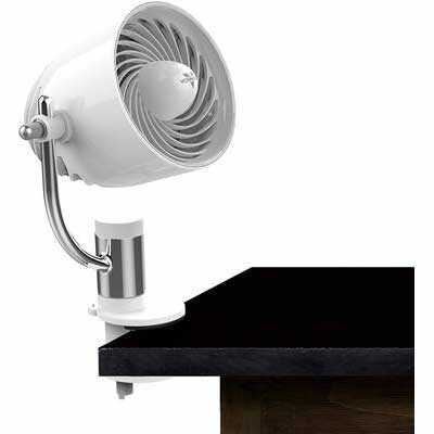 3. Vornado PivotC Clip on Fan with a Multi-Surface Mount, White