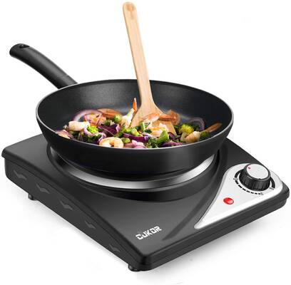 #10. CUKOR Electric 1500W Stainless Steel Hot Plate for Cooking