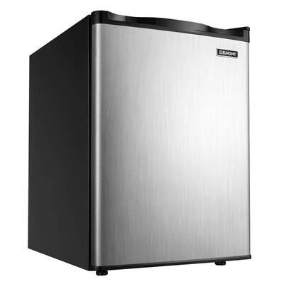 #6. Euhomy Energy Star 2.1 Cubic Ft. Compact Single Door Reversible Door Upright Freezer (Silver)