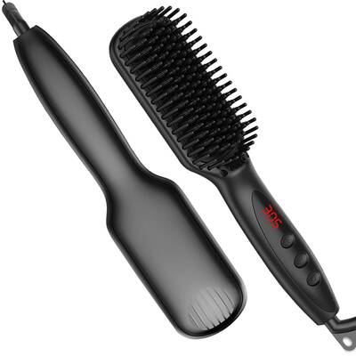 #6. Halsell Beard and Hair Straightener for Men