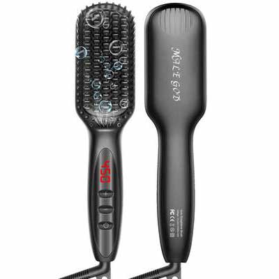 #8. Bears Straightener for Men, MALE GOD Beard Brush with Ceramic Heater and Ionic Generator