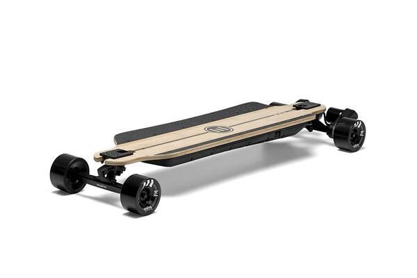 #1. Evolve Skateboards Electric Bamboo All-Terrain Longboard