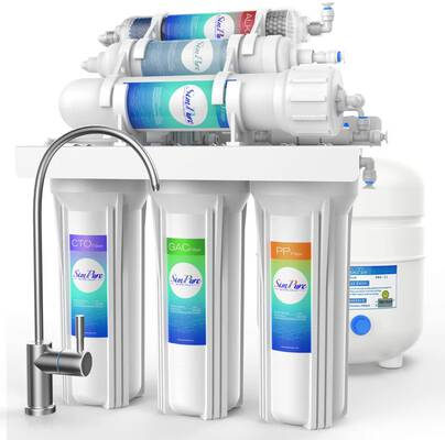 #3. SimplePure 6 Stage RO Under Sink Reverse Osmosis 75GPD Water Filtration System