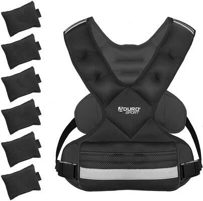 3. Aduro Sport 2 Large Pockets Adjustable 4 – 10 lbs. Weighted Vest for Men & Women