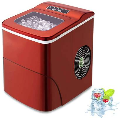 #9. AGLUCKY Counter Top Ice Maker Machine, Compact Automatic Ice Maker