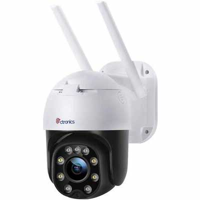 8. Ctronics 1080P HD 80FT Colored Two-Way Audio IP66 Waterproof Outdoor Security Camera
