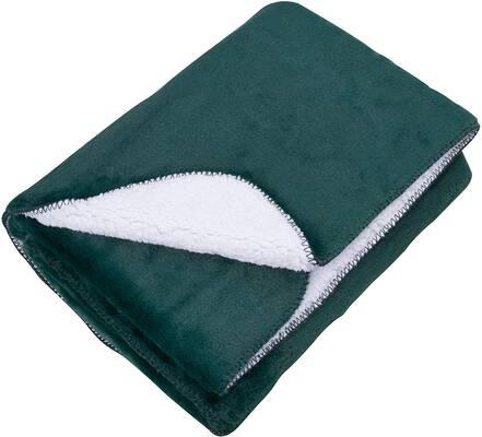 4. SOCHOW Green 50'' x 60'' Sherpa Fleece Soft Faux Warm Luxury Throw Blanket for Sofa Couch