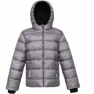 3. Rokka & Rolla Heavyweight Quilted Thickened Poly Filler Water-Resistant Bubble Puffer Jacket